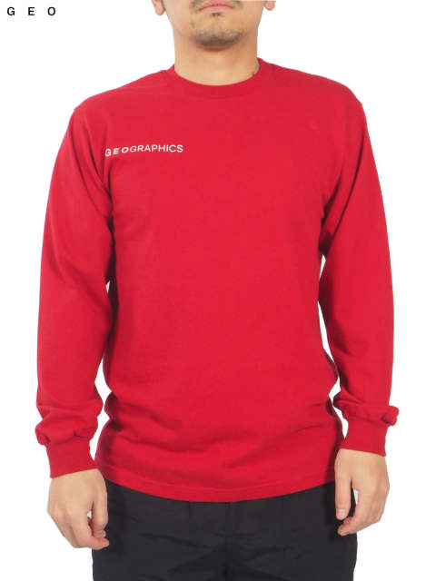 ONE EARTH LONG SLEEVE T-SHIRT (レッド)